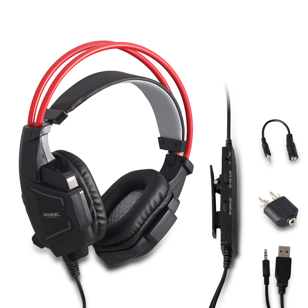Gaming Headset For PS4 Xbox One S,Universal Wired Stereo Microphone Multi-Function Headset Headphone For PS4 / Xbox one / PS3 huhd hw 398 optical fiber 2 4g wireless professional stereo gaming headset for xbox one xbox 360 ps4 ps3