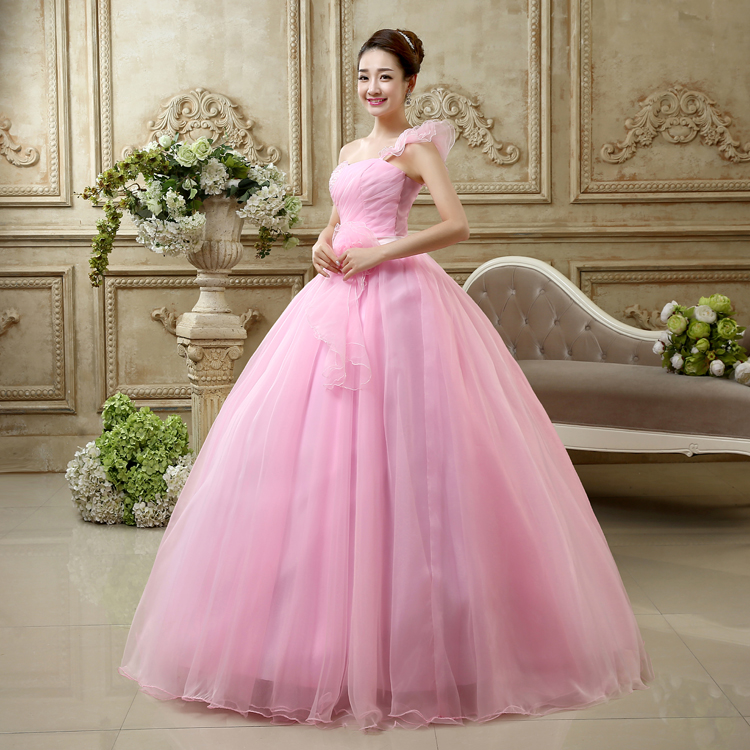 Wedding Dresses With Pink Colour Other Dresses Dressesss