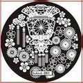 Pronto!!! 1 Unid 5.6 cm Ronda Nail Art Sello Estampado Imagen del Lazo Plate Serie JEJE hehe51 *** *** NUEVO (TKLZ04M1)
