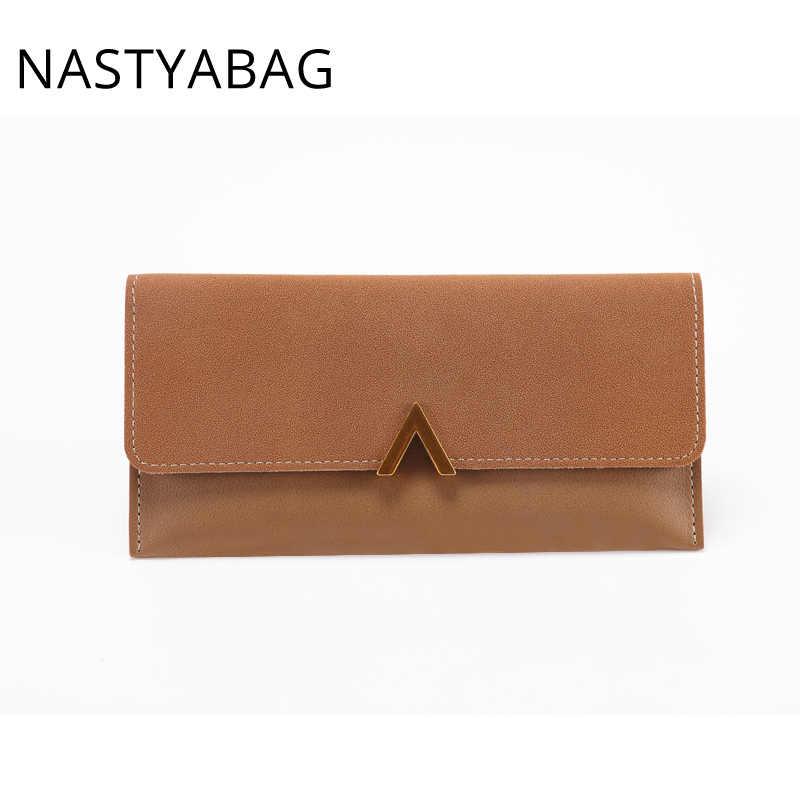 8ec92ae40 ... Billeteras de mujer largo bolsa de dinero de cuero de la marca de moda  bolso de ...