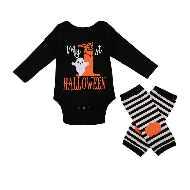 baby clothing my 1st halloween newborn baby boy girl romper leg wamers outfits set