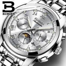 ספיר שעון עמיד למים Relogio Masculino שוויץ אוטומטי מכאני שעון גברים Binger יוקרה מותג Mens שעונים B1178 4