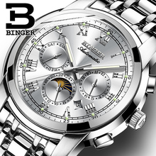 Sapphire นาฬิกากันน้ำ Relogio Masculino สวิตเซอร์แลนด์นาฬิกากลไกอัตโนมัตินาฬิกาผู้ชาย BINGER Luxury ยี่ห้อ Mens นาฬิกา B1178 4