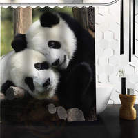 Standard Store Custom Funny And Sweet Pandas Shower Curtain 60 X 72 48 X 72