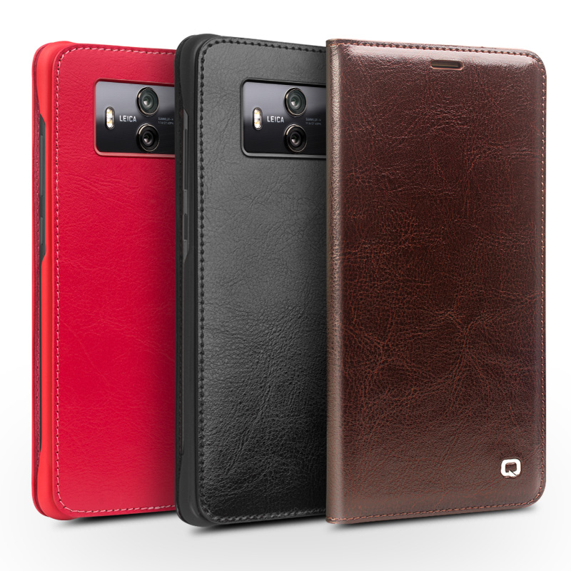 QIALINO Business style Genuine Leather Case for Huawei Mate 10 Luxury Bag Cover for Huawei Mate 10 Ultra Slim Flip Case 5.9 inch