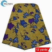 Wholesale Price New High Quality 100 Cotton Super Wax Hollandais Fabric African Ankara Fabric 12 Yards