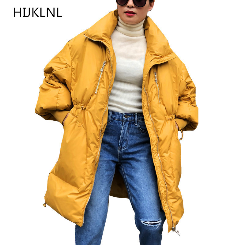 2018 Winter New Women's   Down   Jacket   Coat   Long Loose Loose Plus Fat Outer Large Size Waist Warm OUTERWEAR TQ250