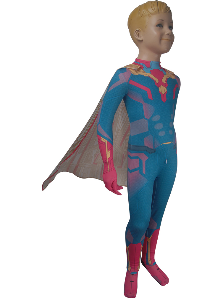 CoöPeratieve Kids Avengers: Infinity War Vision Kostuum Superheld Pak Jumpsuit Cape Halloween Kostuum X'mas Verjaardag Valentijnsdag Gift Geurige (In) Smaak