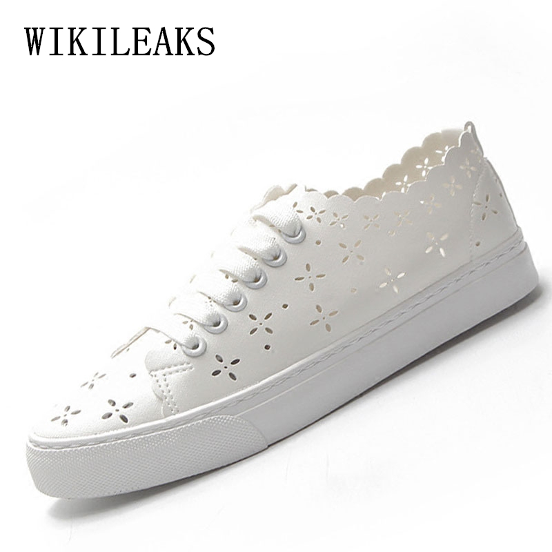 womans shoes fashions 2018 designer Hollow Out white sneakers women Leather casual shoes ladies trainers tenis feminino casual