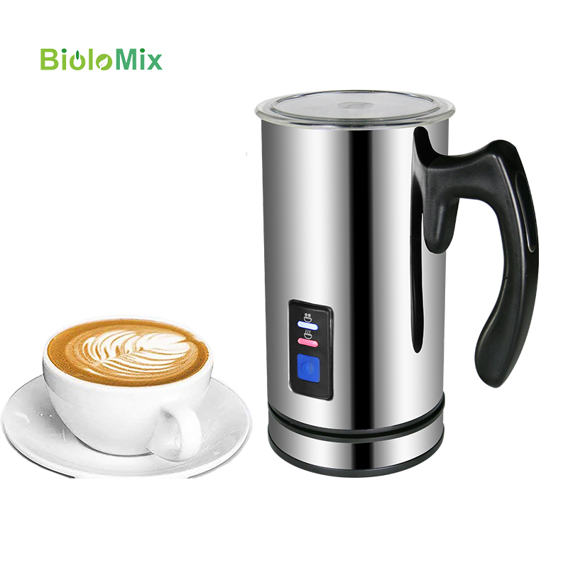 Milk Frother Steamer Electric Frother for Soft Foam, Automatic Hot Cold Milk Warmer with Two Whisk Heater and Cappuccino Maker-in Coffee Makers from Home Appliances    1