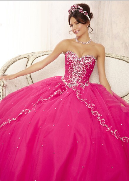 New Unique 2019 Pageant Coral Quinceanera Dresses 15 Years Layers Tulle Sweetheart Sparkling Beaded Party Ball
