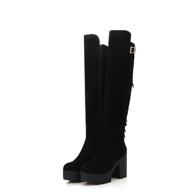 Big Size 34-44 Over the Knee Boots for Women Sexy High Heels Long boots Winter Shoes Round Toe Platform Knight Boots M985 enmayer sexy red shoes woman high heels bowties charms size 34 47 zippers round toe winter over the knee boots platform shoes page 6