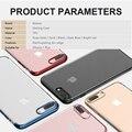 Baseus para iphone 7 galvanoplastia case capa luxo anti-riscos transparente tpu shell protetora para iphone 7 plus case