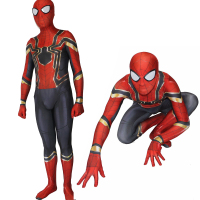 Avengers 3 Homecoming Adult Cosplay Costume Zentai Iron Spiderman Superhero Bodysuit Suit Jumpsuits For Halloween Purim