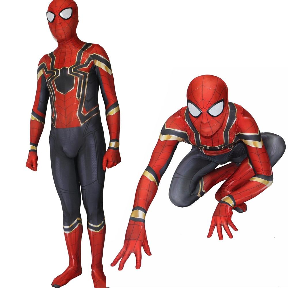 Avengers <font><b>3</b></font> Homecoming Adult Cosplay <font><b>Costume</b></font> Zentai Iron <font><b>Spiderman</b></font> Superhero Bodysuit Suit Jumpsuits for Halloween Purim party