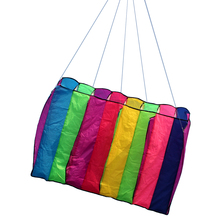 30m Multi-color Kite Single Line Parafoil Parachute Kite Frameless Soft Kite Giant Rainbow Kite Lifter Adults Kids Toys