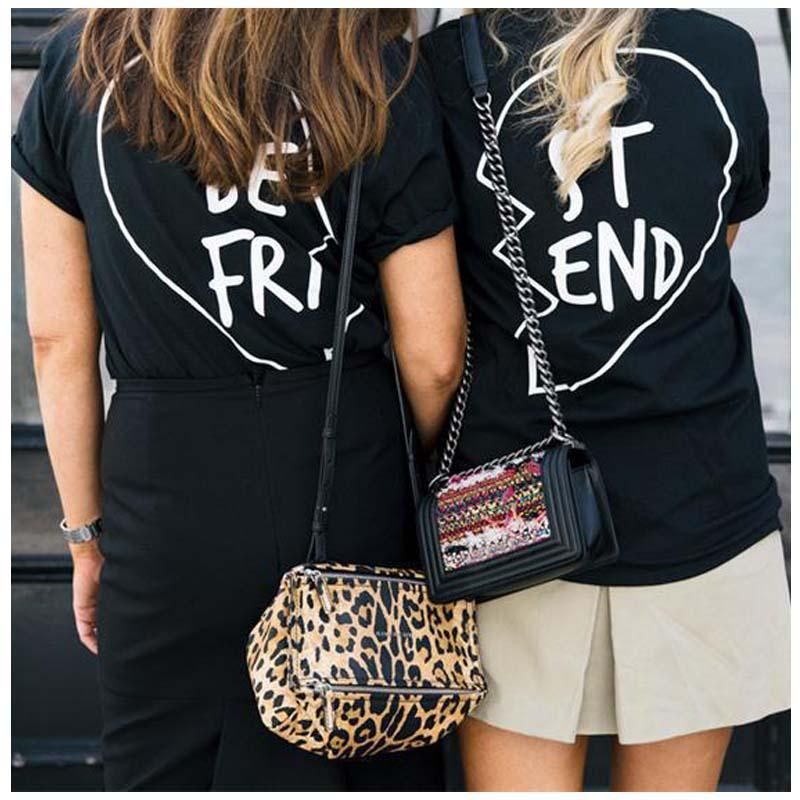 Best friends t shirt women summer 2016 best friend graphic for Best t shirts for summer