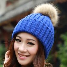 Ухо-protect весна-зимние помпоны chapeu вязаная шапочки кролика шапка feminino покроя свободного
