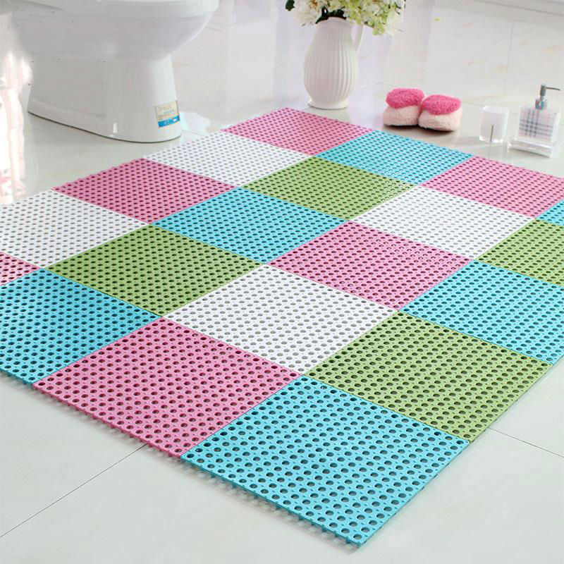 Water Resistant Bathroom Anti Slip Mats High Quality PVC Material - Anti skid flooring material