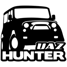 CK2326#17*20cm UAZ Hunter funny car sticker vinyl decal silver/black auto stickers for bumper window decorations