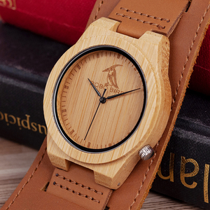 Image 2 - Relogio masculino בובו ציפור במבוק גברים שעון עץ שעונים קוורץ שעונים אישית לוגו מקבלים זרוק חינם