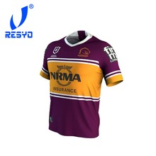 RESYO for Newest NRL Brisbane Broncos MENS 2019 HOME JERSEY Rugby Jerseys  Football Shirt  Free 62412a365