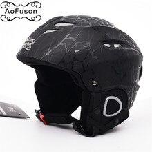 Brand Ski helmet adult Integrally-molded adjustable size warm windproof winter Snow sport Skating Skateboard Unisex helmets kask