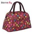 Historieta de la manera de Señora Bolsos de Las Mujeres 10 colores bolso de la caja bolsas de asa Superior mujeres baglunch Carácter de estampados de Animales de color Caramelo bolsas