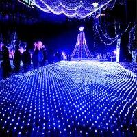 BEIAIDI 8x10 м 2600 светодио дный Рождество сеточку светодио дный Строка свет Открытый Пейзаж сада Свадебная вечеринка светодио дный Чистая Фея св