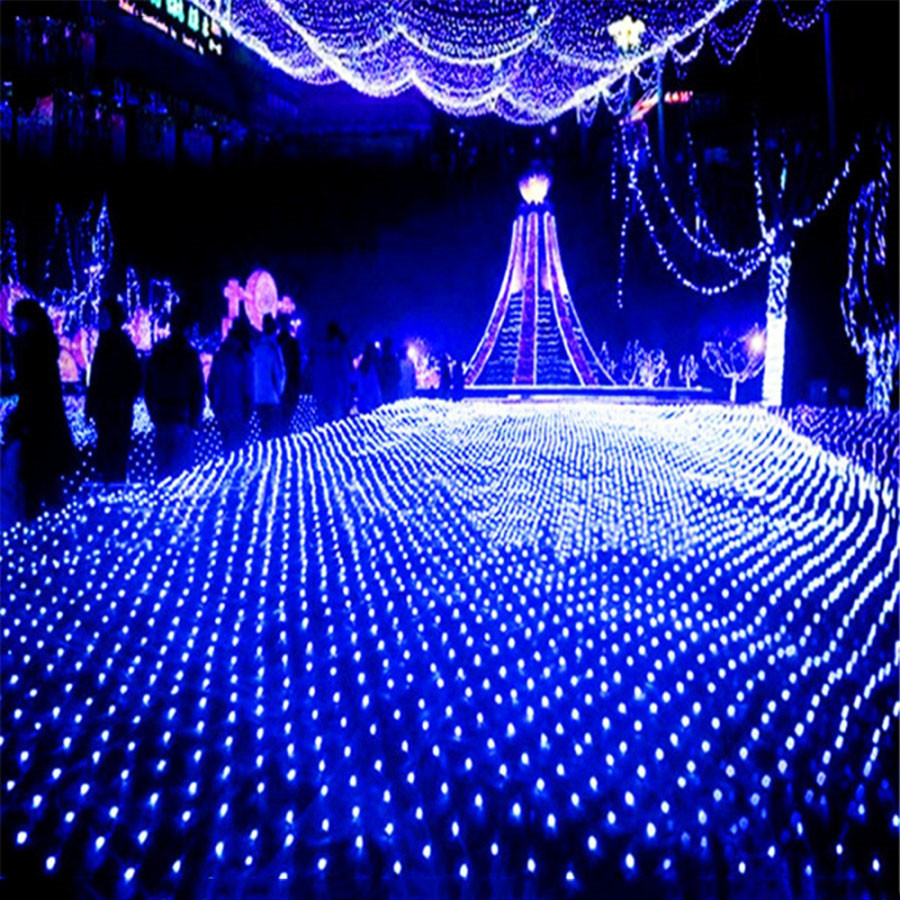 BEIAIDI 8x10M 2600 Led Christmas Mesh Net LED String Light Outdoor Garden Landscape Wedding Party LED Net Fairy light Garland beiaidi 3m 444led 3pcs peacock christmas mesh net fairy led string outdoor wedding window icicle fairy string light garland