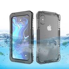 IP68 מקרה עמיד למים עבור iPhone X XR XS מקסימום 8 7 בתוספת 6 6S 5 5S SE טלפון מקרה תחת מים הוכחת כיסוי מקרה עבור iPhone 11 Pro מקסימום