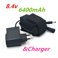 6400mAh OR 10800mAh Bicycle Light 18650 Battery Pack 8 4V For T6 LED Lamps Lights Cycling