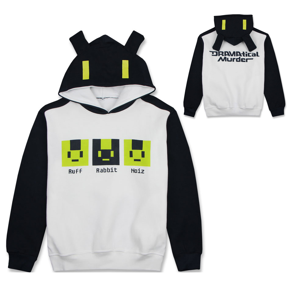 Anime DMMD Dramatical Murder Noiz  Sweatshirt Cosplay Costume Hooded Pullover Hoodie Daily Casual Hoody