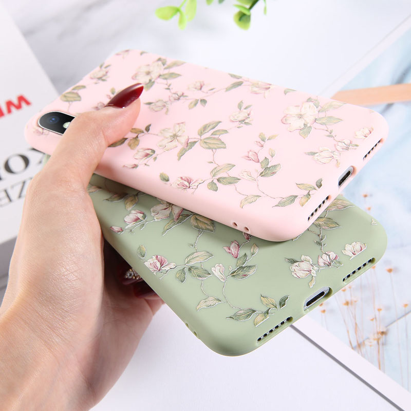 Colorful Floral Leaves Design Phone Cover Shell Made Of High-Quality Soft TPU Material For iPhone Models 4