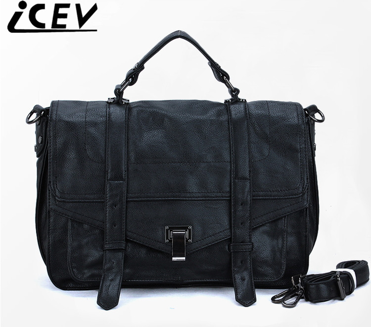 ICEV brand 2018 new satchels retro messenger bag faux suede clutch designer handbags high quality shoulder bag for women leather