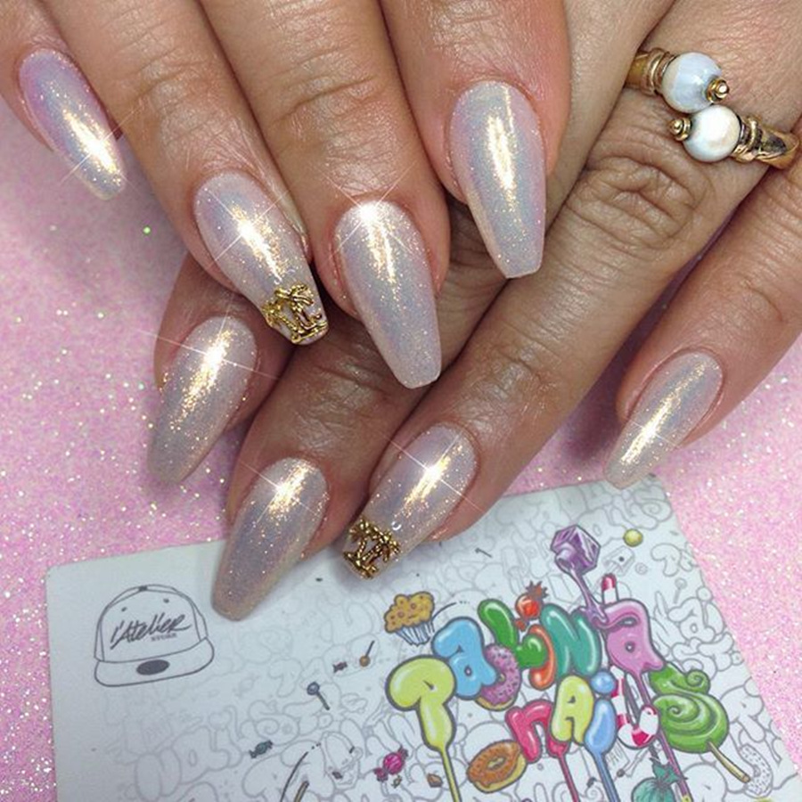 5 Color Mermaid Nail Glitter Powder Shinning Mirror Nail ...