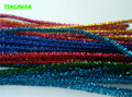 100pcs/pack Glitter Color Chenille Stems Tinsel Sticks Pipe Cleaners Kindergarden DIY Art Craft Materials for Creative Kids