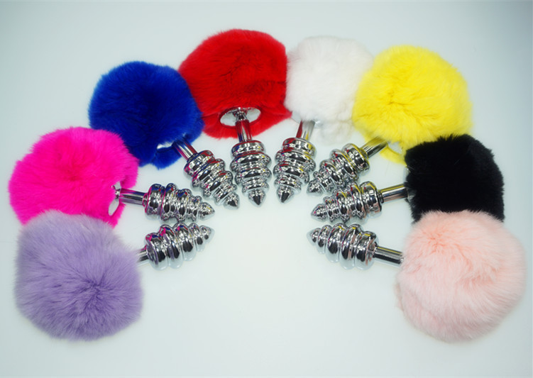 Metal Fox Tail Butt Plug Cat Tail Anal Plug Sex Toys Acas11 Alloy-In Anal Sex Toys -7252
