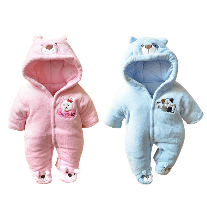 2017 new Baby Romper  Winter Wear Cotton  Newborn Climbing Clothing Newborn Baby boys Girls Clothes  Baby Jumpsuit 2016 winter new soft bottom solid color baby shoes for little boys and girls plus velvet warm baby toddler shoes free shipping
