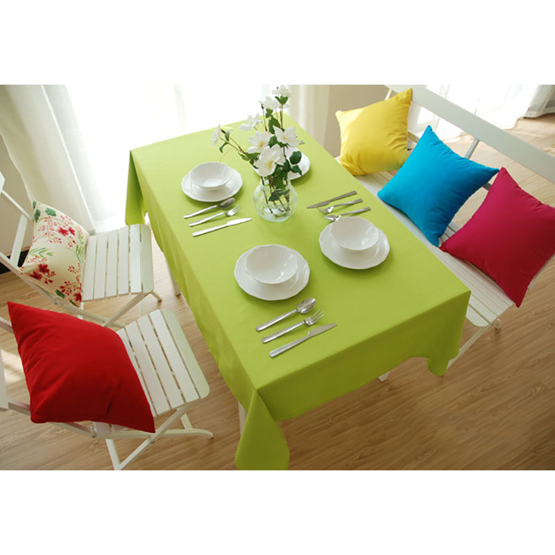 Canvas table cloth woven green brown red tablecloth home - Manteles para mesa ...