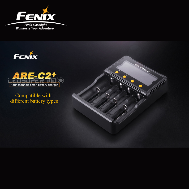 Original Original Fenix ARE-C2+ Four Channels Smart Charger compatible with Li-ion and Ni-MH/Ni-Cd Batteries gtf 10 slot lithium ion ni mh ni cd universal smart battery charger with led 5v usb output and euplug power adapter