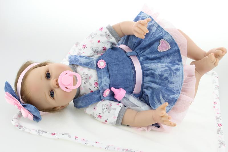 NPKCOLLECTION 22 Pulgadas 55 cm Reborn Baby Doll Realista Recién - Muñecas y accesorios - foto 2