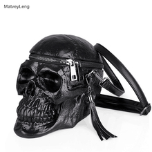 MatveyLeng Rock Style Messenger Bag Ladies High Quality Handbag Large Capacity Organizer Waterproof Skull Shoulder