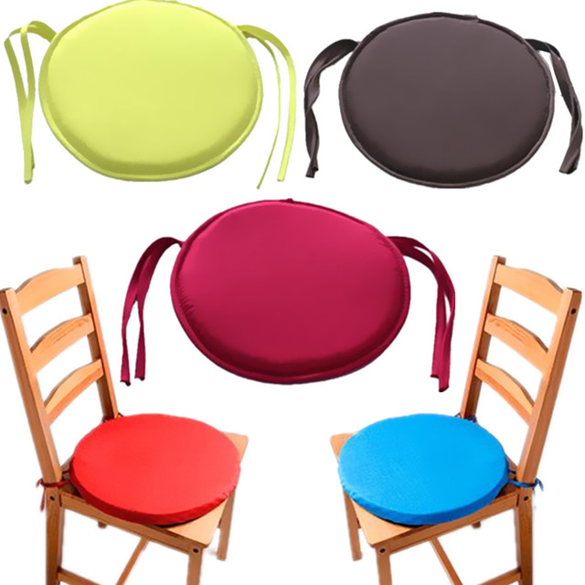 Round Chair Cushion Pop Patio Office Chair Seat Pad Tie On Square Garden  Kitchen Dining Cushion