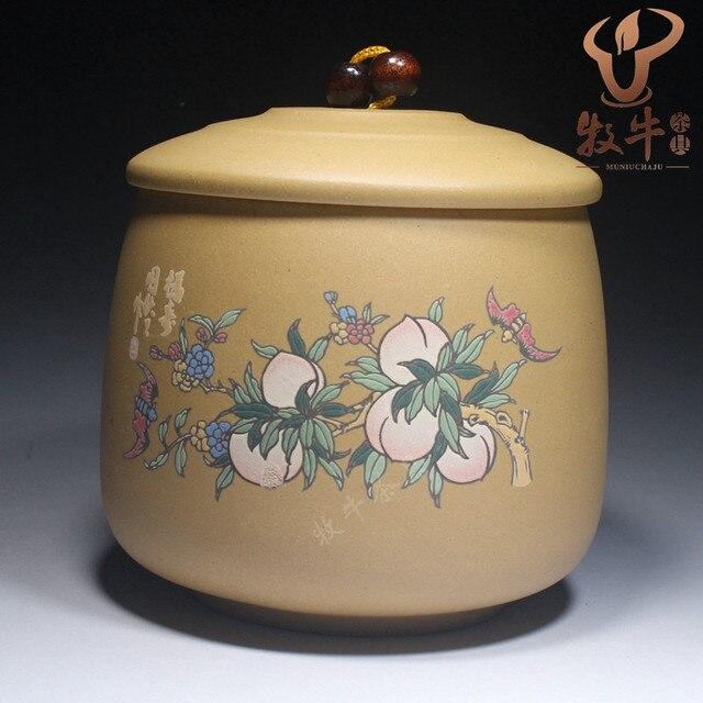 Чай может сделать большой маленький эскиз Zisha банку персик-цветок персик-образный Mantou резервуар для хранения чая для проведения индивидуальные подарки логотип