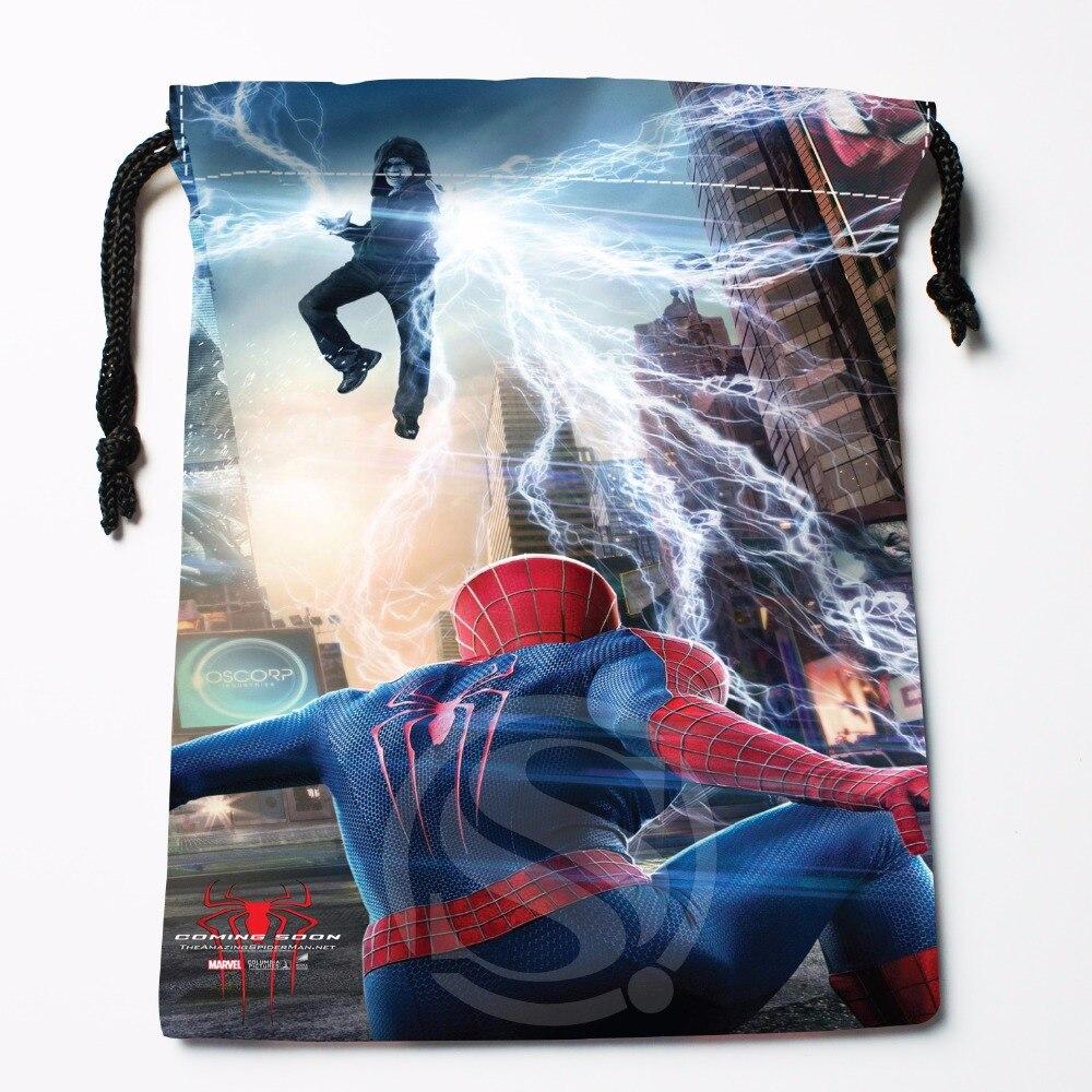 Fl-Q55 New Amazing Spider Man Custom Logo Printed  Receive Bag  Bag Compression Type Drawstring Bags Size 18X22cm 711-#F55
