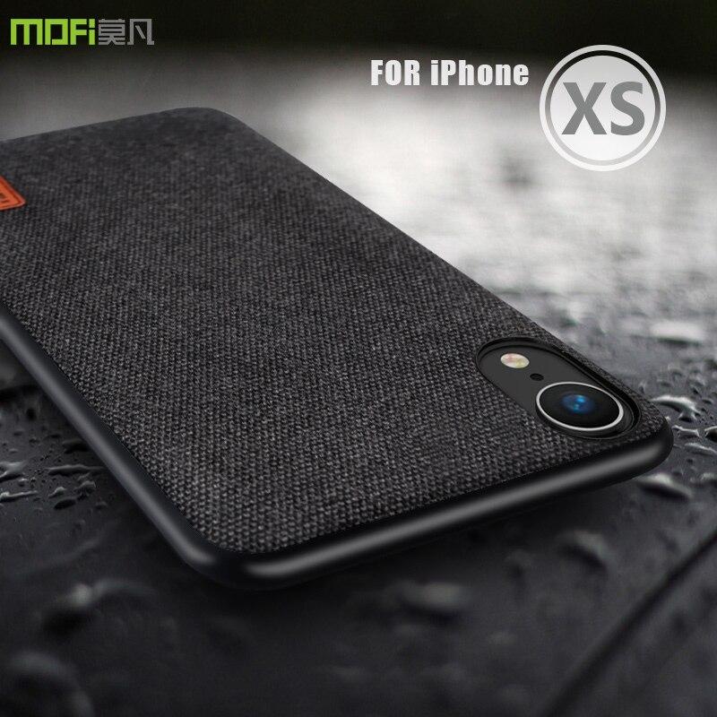 Para o iphone xs caso capa mofi para o iphone xs max tecido de volta caso capa para o iphone xr tpu borda macia capa completa caso de negócios