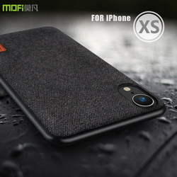 for iphone xs case cover MOFI for iPhone XS Max Fabric Back Cover Case For iPhone XR Soft TPU edge Full Cover business Case