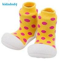 2 Cặp/lô Dots Trẻ Em Khởi Động Toddler Giày Vớ Bé Cho Bé cô gái Trẻ Em Trai Vớ Đáy Mềm Non-Slip Tầng Đế Cao Su YD392