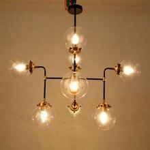 Modern Glass Design Chandelier Lighting Living Room Kitchen Foyer Loft Lamp Lustre Decor Home Light Fixtures E14 110-220V